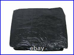 18 x 36 Foot Dark Blue Rectangular In Ground Winter Pool Cover with Water Tubes