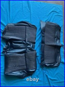 1968 Mustang Fastback 2 Tone Dark Blue Seat Covers Set Front & Rear