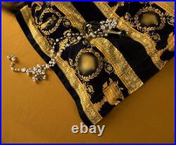 2020 luxury bedding set 4 pieces dark blue gold bed linen cover extra large