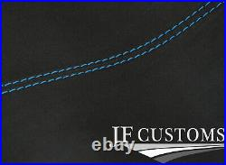Blue Stitch Roof Headlining Liner Dark Grey Luxe Suede Cover For Bmw E36 Coupe