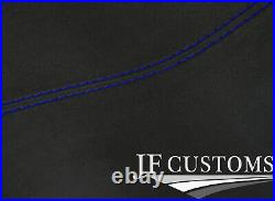 Blue Stitch Roof Headlining Liner Dark Grey Luxe Suede Cover For Bmw E46 Coupe
