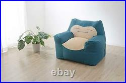 Cellutane Snorlax Bead Sofa with Washable Cover Dark blue Made in Japan F/S