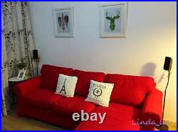 Custom Made Cover Fits IKEA EKTORP Sofa with Chaise / Loveseat with Chaise Cover