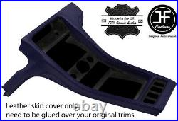 Dark Blue Real Leather Centre Console Cover Fits Porsche 928 1990-1995 Style 3