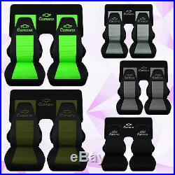 Fits 1982-1992 Camaro Front &3 piece rear car seat covers choose color
