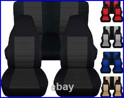Front and Rear car seat covers Fits Jeep wrangler YJ-TJ-LJ 1985-2006 Nice Colors