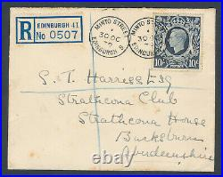 GB Stamps First Day Cover 1939 October 30 High Value 10/- Dark Blue Rare
