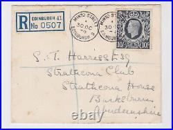 GB Stamps First Day Cover 1939 October 30 Kgvi High Value 10/- Dark Blue Rare