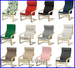 IKEA POANG Armchair Slipcover Replacement Cushion & Slip Cover, 22 Colours, New