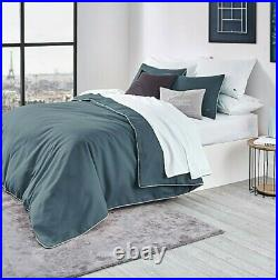 Lacoste Gorbio 3-piece King Duvet Cover Set in Dark Teal-100% Cotton-New withTags
