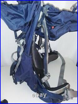 Osprey Aether 70 Size M Dark Blue Backpack with Rain Cover Good Used Condition
