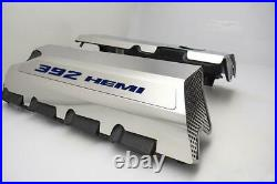 Polished Fuel Rail Covers With Dark Blue for 2011-2014 SRT8 6.4 392 Engines