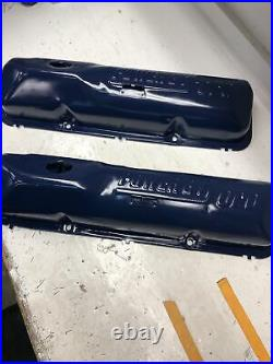 Power By Ford Fe Valve Covers 352 360 390 406 427 428 Big Block Ford Dark Blue
