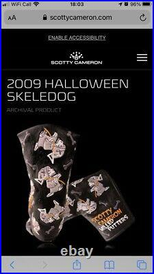 Scotty Cameron Putter Head Cover, Skeledog, Glow In The Dark, Limited Release