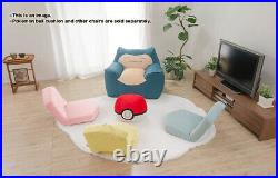 Snorlax Beads Sofa with Washable Cover Hard to Settle Dark Blue Made in Japan FS