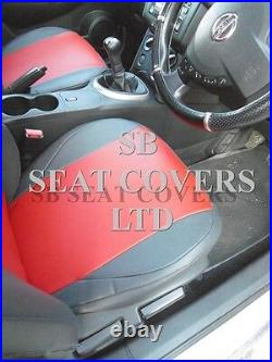 To Fit A Nissan Qashqai 2015 Car Seat Covers, Deep Red +dark Grey Leatherette