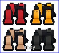 Truck Seat Covers 2014-2018 Chevy Silverado Customized Logo Front and Rear ABF
